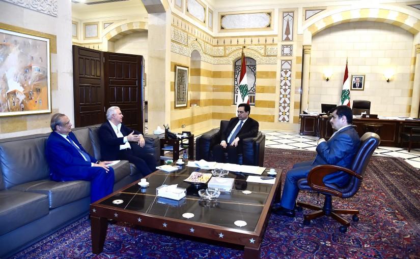 Pr Minister Hassan Diab meets Mr Fares Fares & Mr Antoine Habib