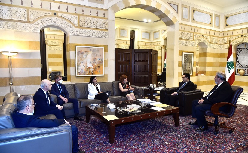 Pr Minister Hassan Diab meets a Delegation from Lebanese Doctor