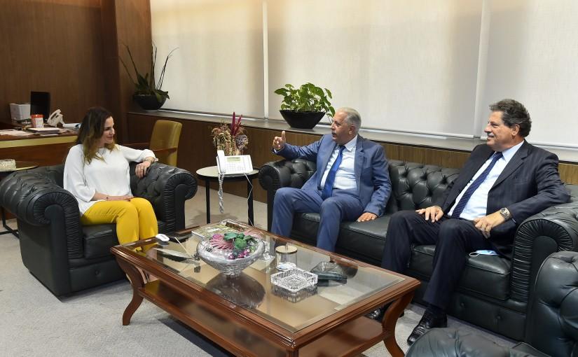 Minister Manal Abdel Samad meets Mounir HazmehMr