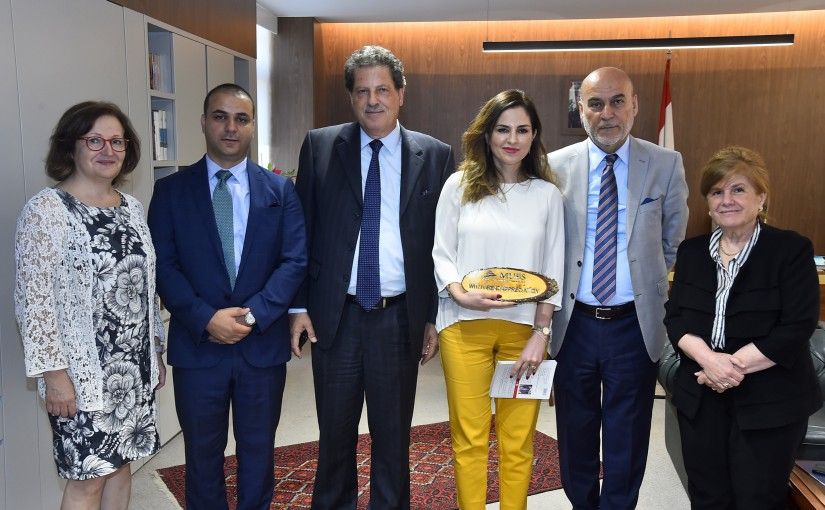 Minister Manal Abdel Samad meets Mr Mirr Hazmeh with a Delegation