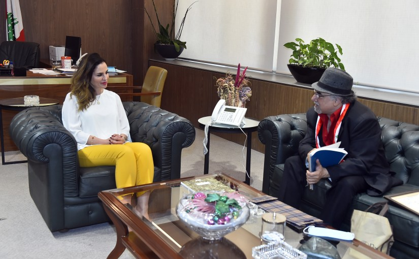 Minister Manal Abdel Samad meets Mr Issan Yaacoub