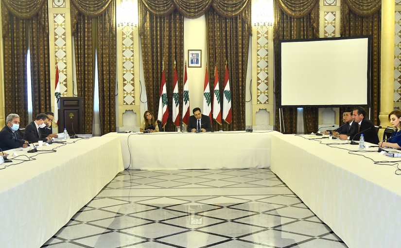 Pr Minister Hassan Diab Heading the Supreme Privatization Council