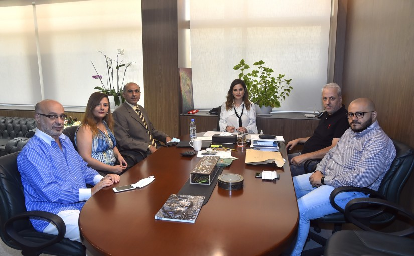 Minister Manal Abdel Samad meets a Delegation from Lebanese Press