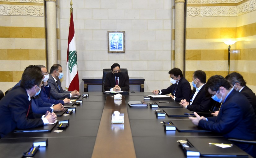 Pr Minister Hassan Diab meets a Delegation from Exchange Syndicate