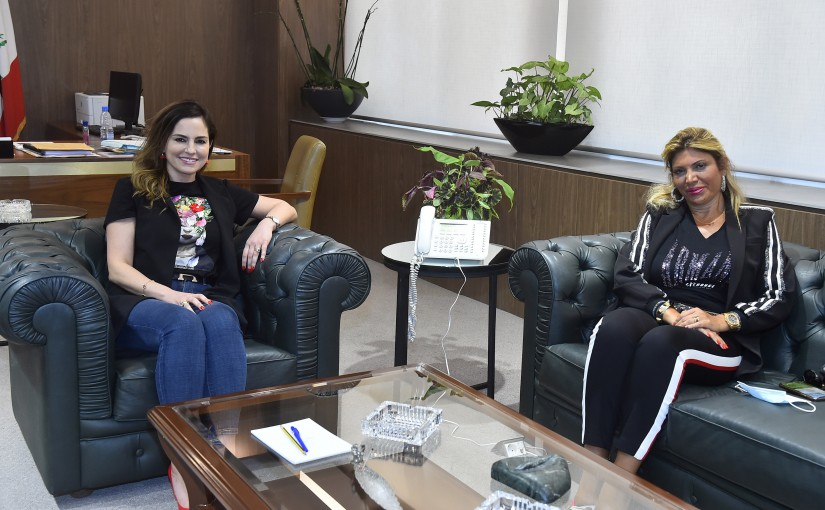 Minister Manal Abdel Samad meets Mrs Mira Daher