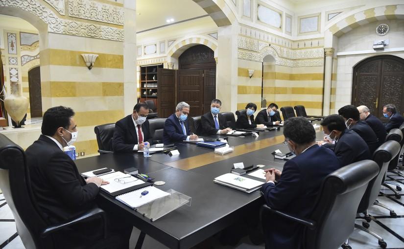 Pr Minister Hassan Diab meets Chinese Ambassador