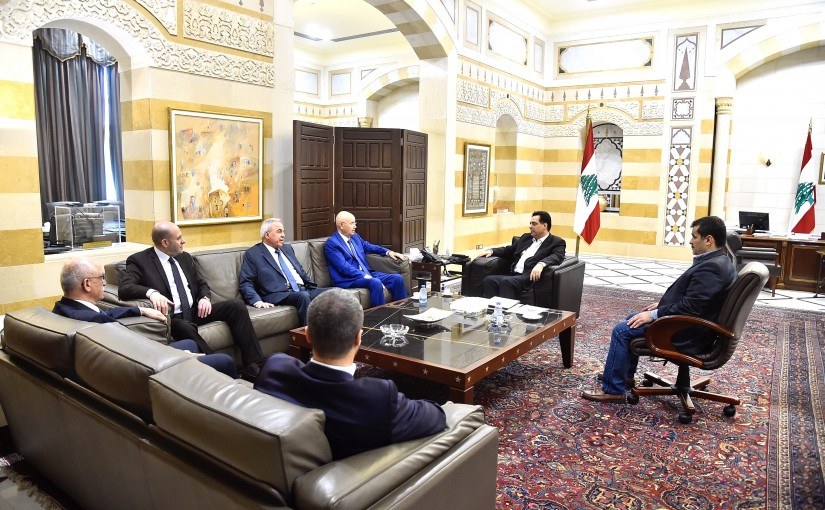 Pr Minister Hassan Diab meets a Delegation from Bekaa MPs