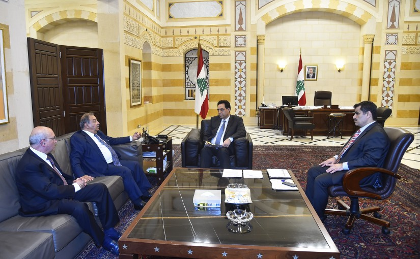 Pr Minister Hassan Diab meets Mr Aouni Kaaki