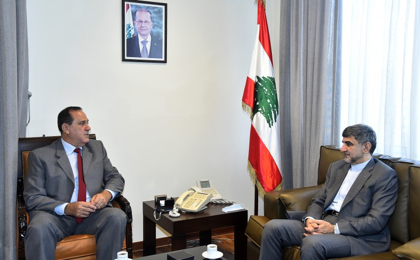 Minister Imad Heballah meets Iranian Ambassador