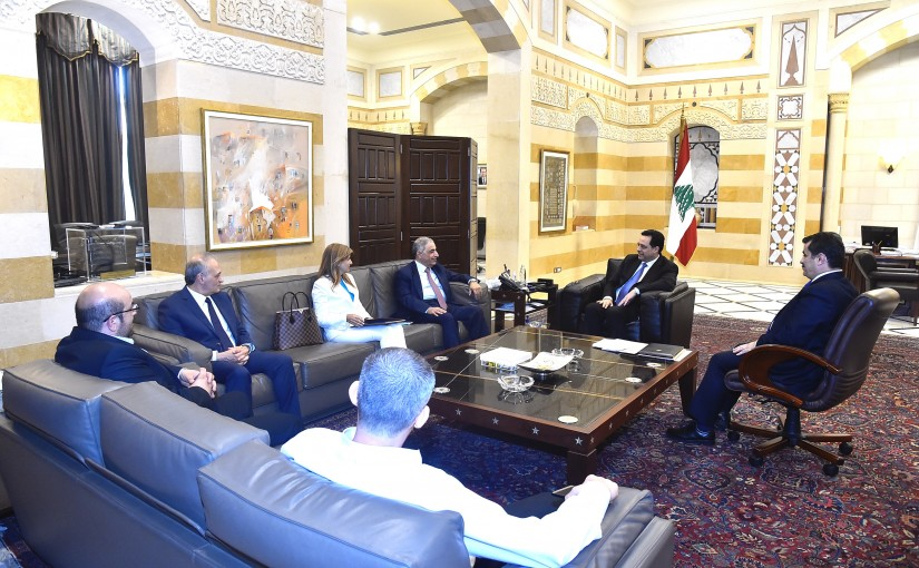 Pr Minister Hassan Diab meets a Delegation from Dentist Order
