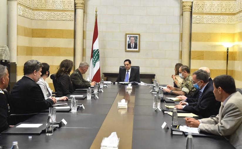 Pr Minister Hassan Diab meets a US Delegation