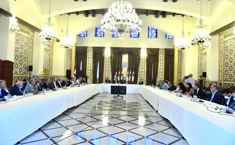 Lecture for Pr Minister Hassan Diab at the Grand Serail
