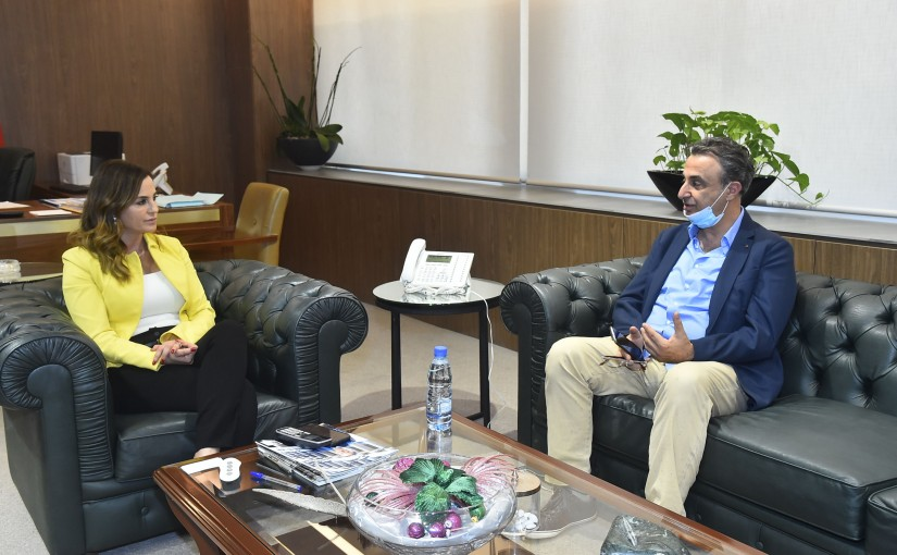 Minister Manal Abdel Samad meets Head of Jad