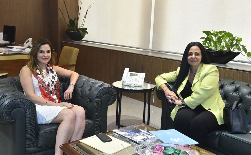 Minister Manal Abdel Samad meets Mrs Margo Hello
