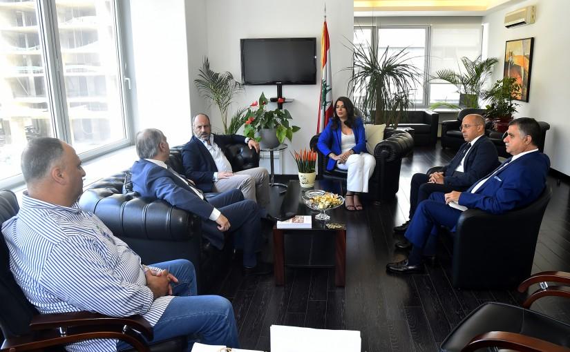 Minister Ghada Shrim meets a Delegation from Baabda MPs