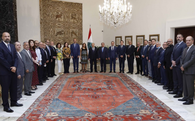 President Michel Aoun Meets a Delegation From Baalbek Festivals