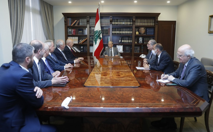 President Michel Aoun Meets a Delegation From Bekaa MPs