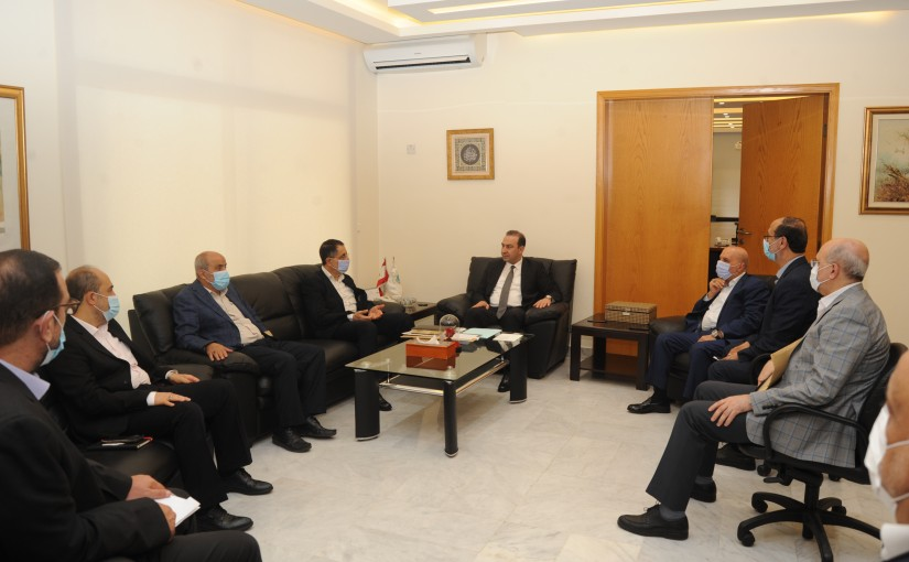 Minister Abass Mourtada meets a Delegation from Baalbak MPs