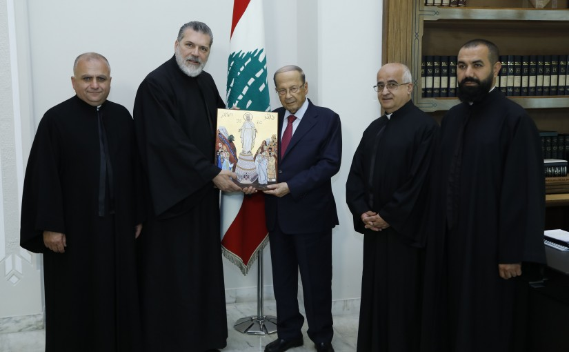 President Michel Aoun Meets Father Fadi Tabet