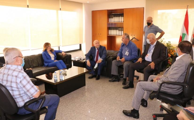 Minister Lamya Yamine Visits the Lebanese Labour Union