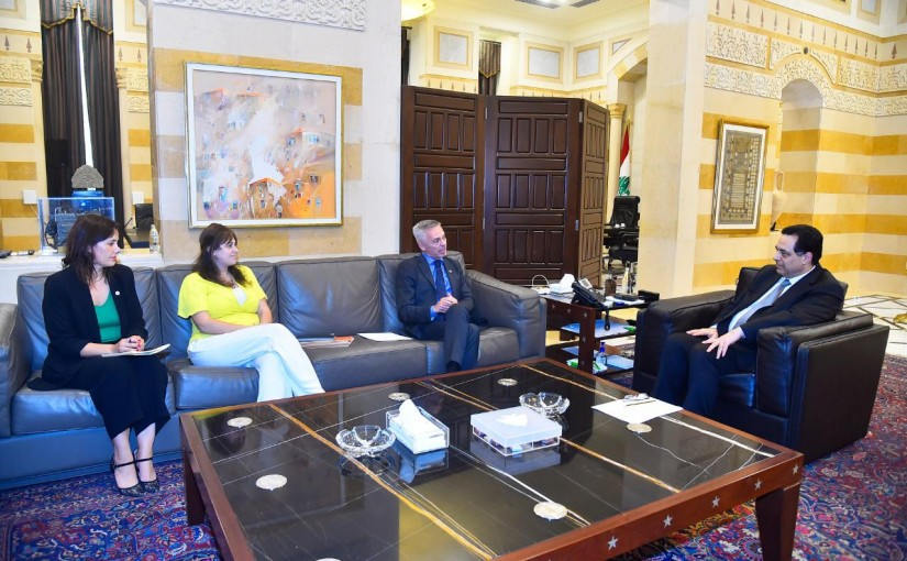 Pr Minister Hassan Diab meets a Delegation from Red Cross