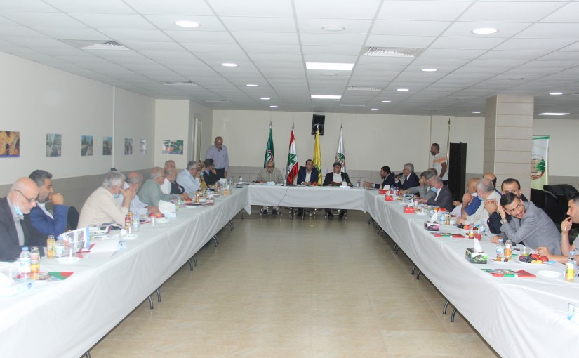 Minister Abass Mourtada meets a Delegation from Dahyieh Municipality
