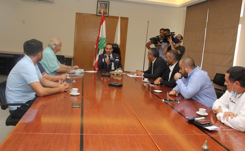 Minister Abass Mourtada meets a Delegation from Livestock Syndicate