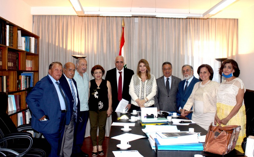 Minister Marie Claude Najem meets a Delegation from Lebanese Press Order