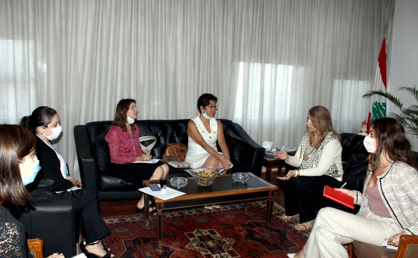 Minister Marie Claude Najem meets a Delegation From UNICEF