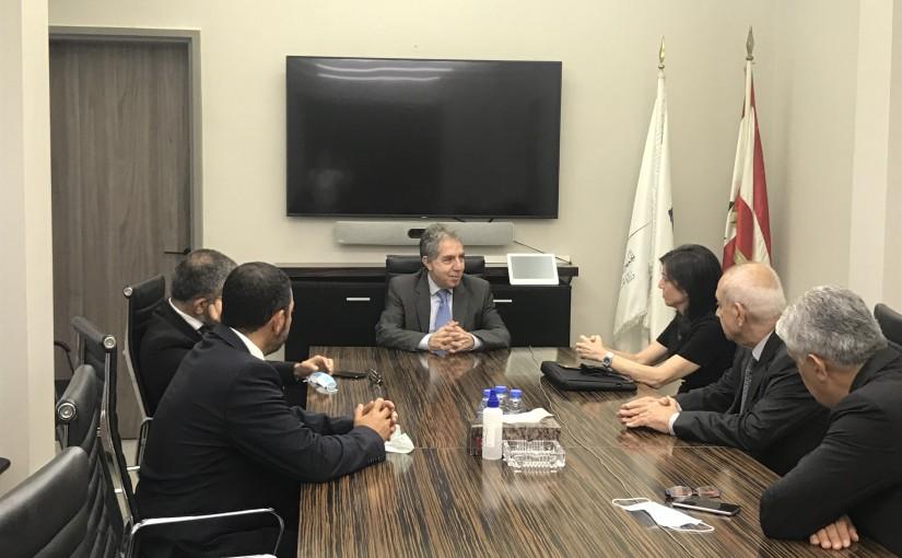 Minister Ghazi Wazni meets Mr Maya Dabagh with a Delegation