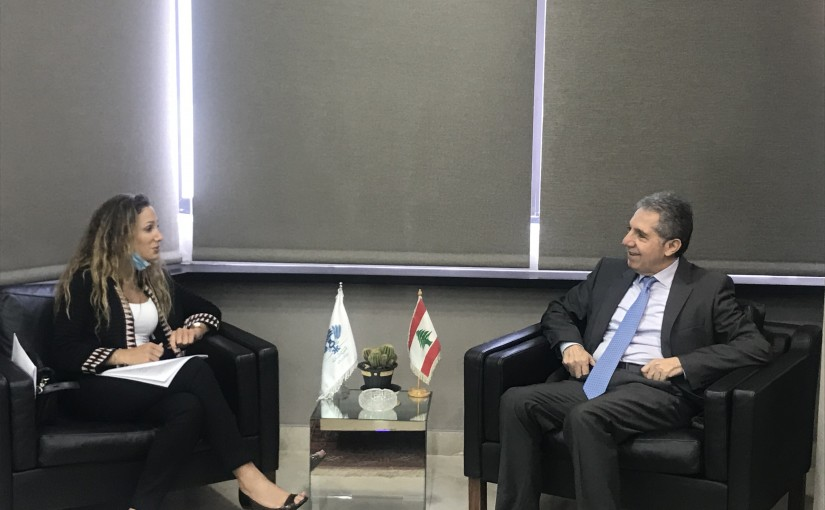 Minister Ghazi Wazni meets Mrs Christelle Wakim