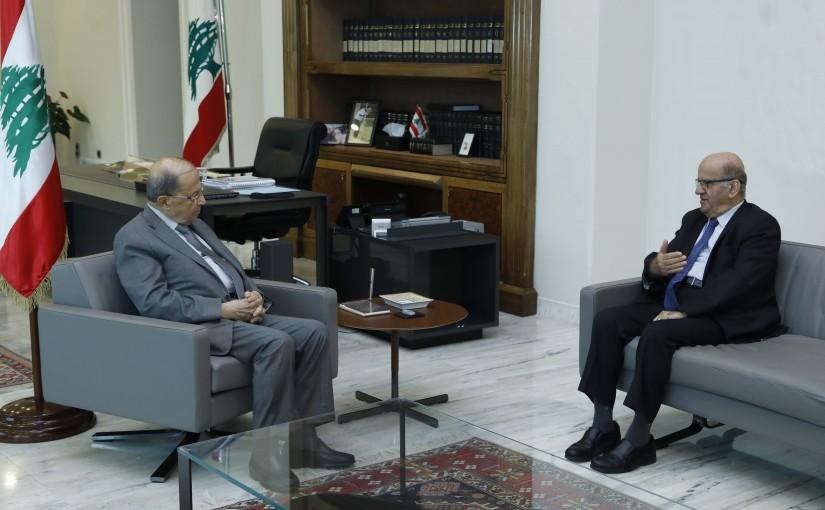 President Michel Aoun Meets Dr  Jarjourah Hardan