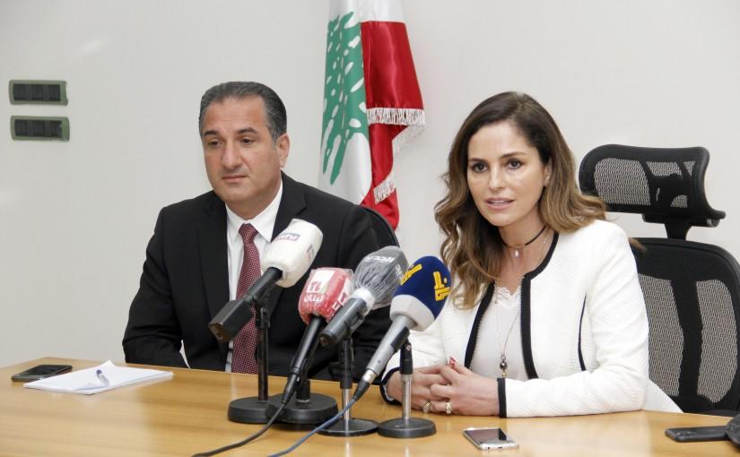 Minister Tallal Hawat meets Minister Manal Abdel Samad