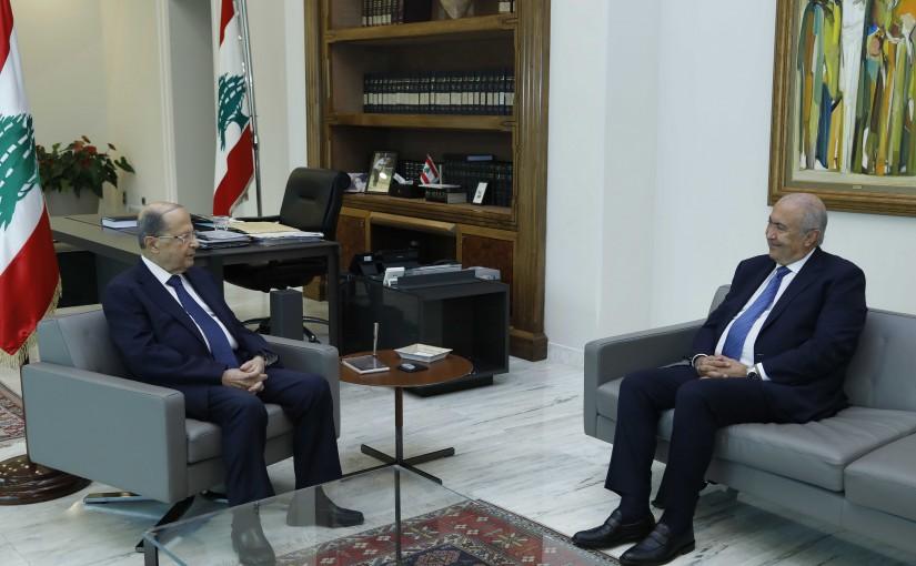 President Michel Aoun Meets MP Fouad Makhzoumi