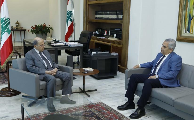 President Michel Aoun Meets MP Hikmat Dib