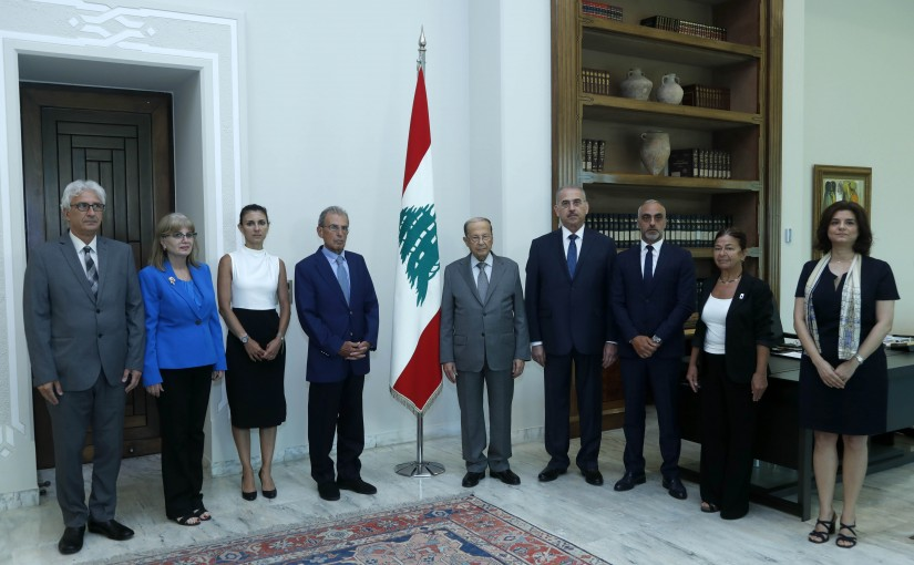 President Michel Aoun Meets The National Comission of Missing Persons