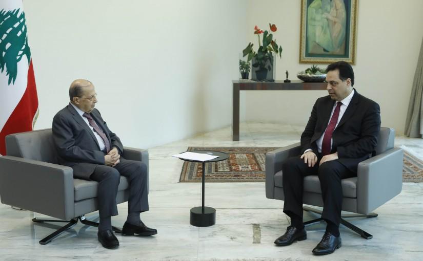 President Michel Aoun Meets P Minister Hassan Diab