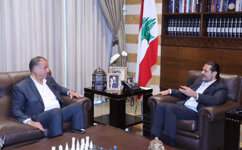 Former Pr Minister Saad Hariri meets MP Mohamad Sleiman