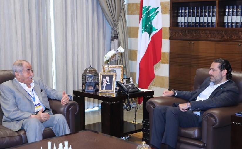 Former Pr Minister Saad Hariri meets Mr Salah Bakri