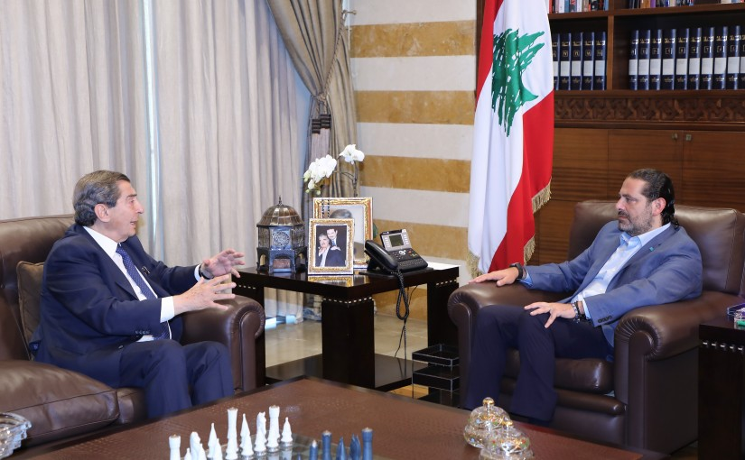 Former Pr Minister Saad Hariri meets MP Elie Ferezli