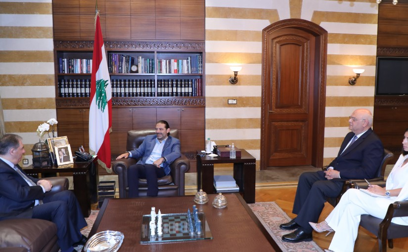 Former Pr Minister Saad Hariri meets Palestinian Ambassador