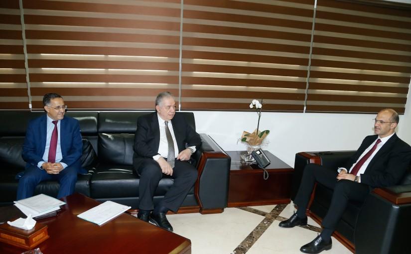 Minister Hassan Hamad meets Former Minister Samir Jessir
