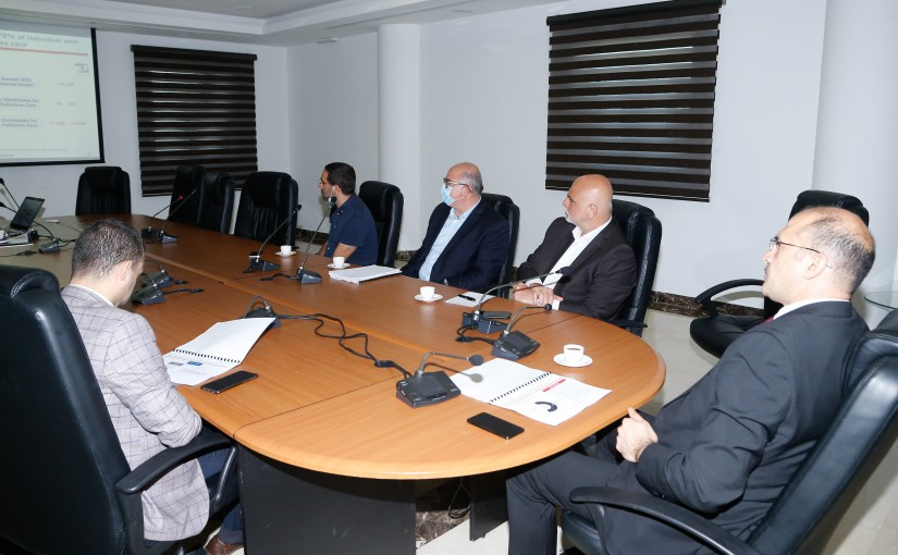 Minister Hassan Hamad meets a Delegation from Employees of Ministey