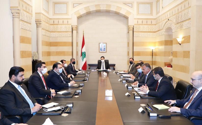 Pr Minister Hassan Diab meets an Iraqi Delegation