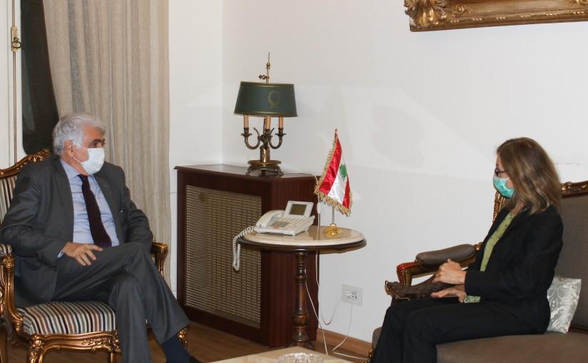 Minister Nassif Hiti meets Italian Ambassador