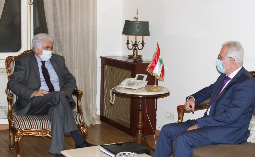 Minister Nassif Hiti meets Mr Raymond Khatar