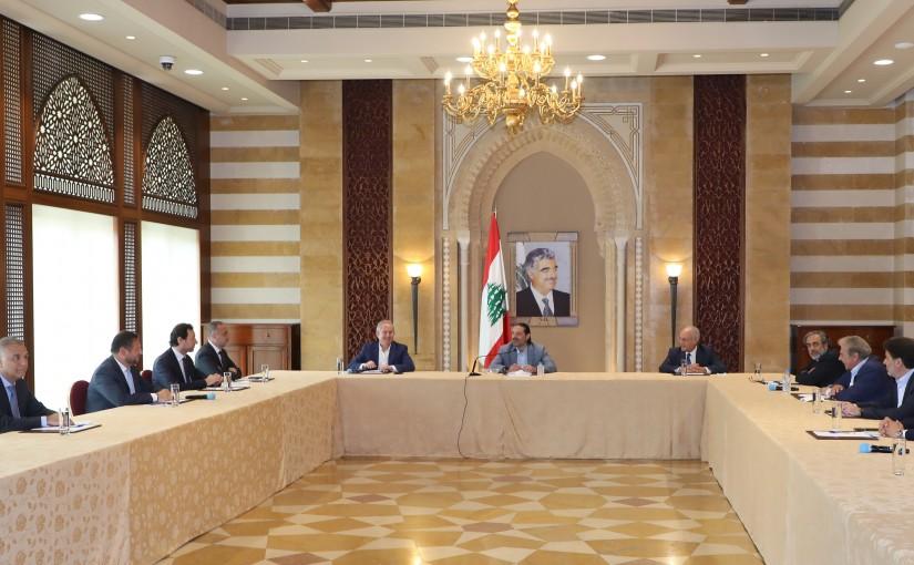 Former Pr Minister Saad Hariri meets a Delegation from Beirut Traders