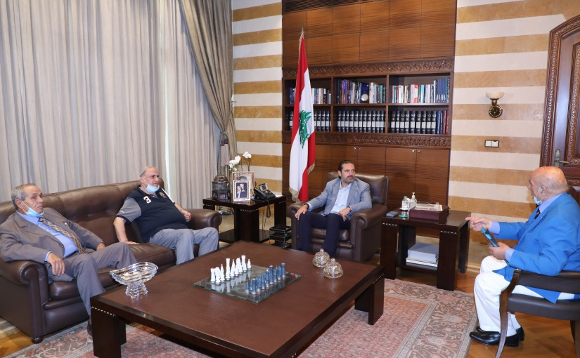 Former Pr Minister Saad Hariri meets a Delegation from Beirut Vegetable Traders