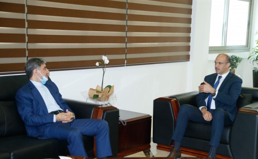 Minister Hassan Hamad meets Iranian Ambassador