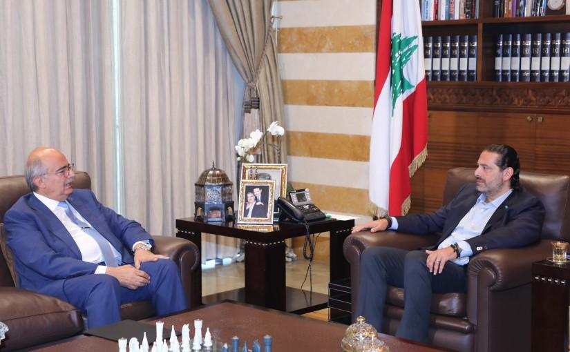 Former Pr Minister Saad Hariri meets MP Nazih Najem